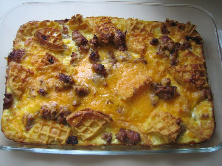 Waffle And Sausage Casserole | Food Related Things To Try | Pinterest