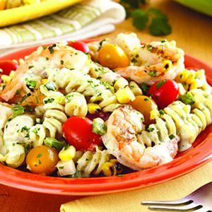 Ancho Chile, Shrimp, And Pasta Recipe — Dishmaps