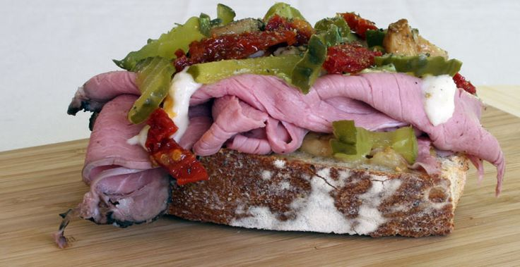 Roast Beef Sandwich with Horseradish Mayonnaise, Sweet Dill Pickles ...