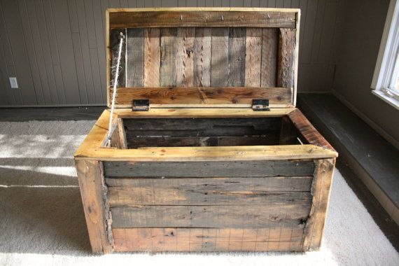 Indoor outdoor pallet wood storage box for Storage box made from pallets