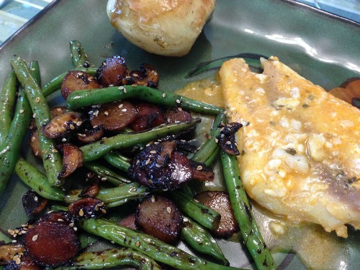 Sesame Green Beans With Mushrooms And Chestnuts Recipe ...