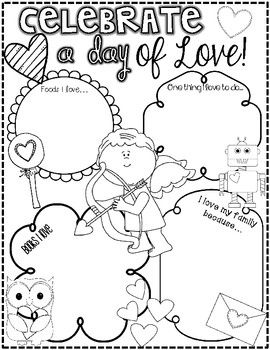 valentine's day literacy activities kindergarten