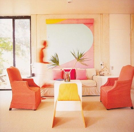 Pink And Orange And Yellow Living Room Color Hot Hues