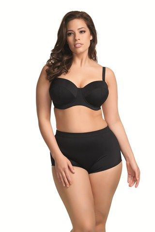 CurvyMarket - Plus Size Style Pty Ltd - Bandeau (with Removeable Straps) Swim Bra by PlusSizeStyle