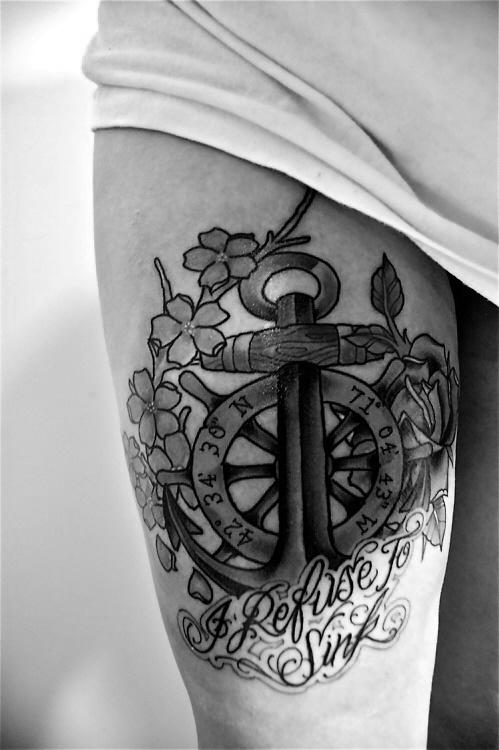 inspirationen ideen anker steuerrad kompass tattoomotive. Black Bedroom Furniture Sets. Home Design Ideas