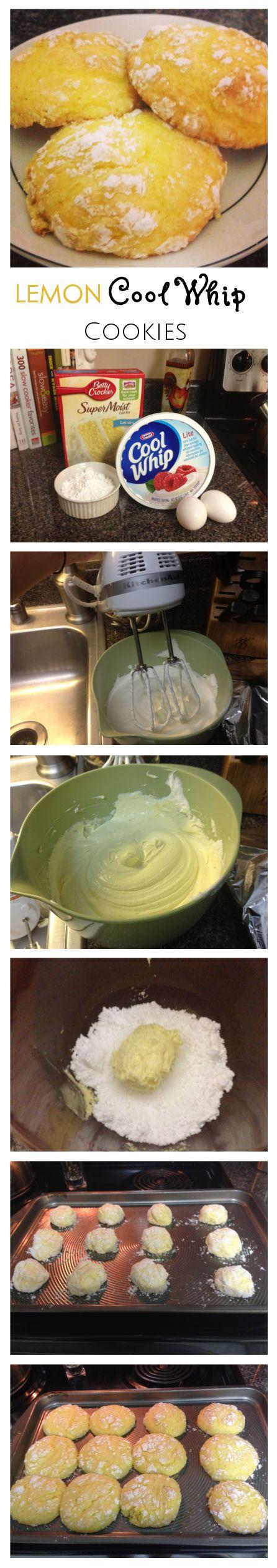 Lemon Cool Whip Cookies | www.makemesomethingsweet.com #CoolWhip # ...