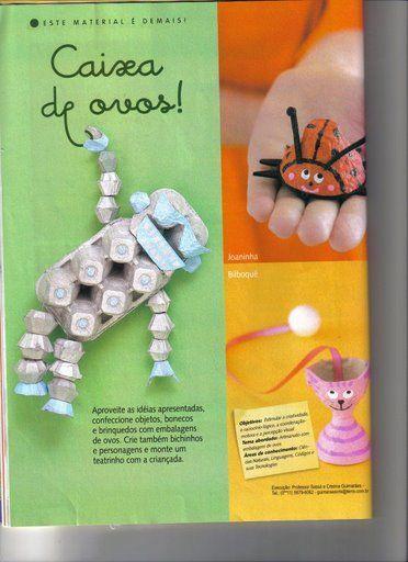 Ensinando com Carinho: Artes com Caixas de Ovos