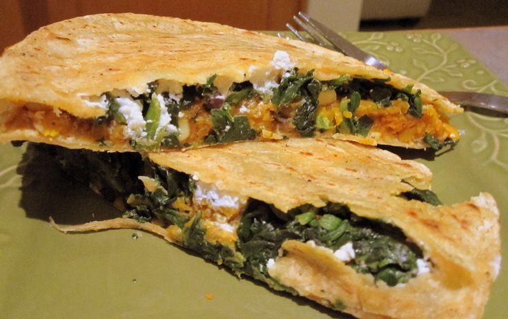 ... Goat Cheese and Black Bean Quesadillas with Coconut Curry Dipping