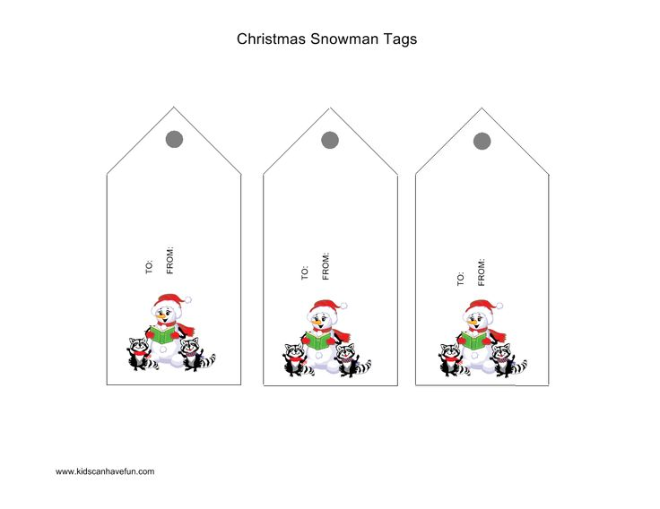 Christmas Snowman Tags   Christmas Printables, Crafts, Games, Workshe ...