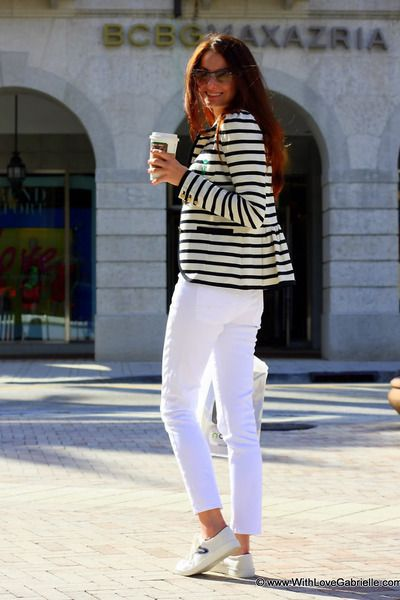 white sneakers chic via withlovegabrielle