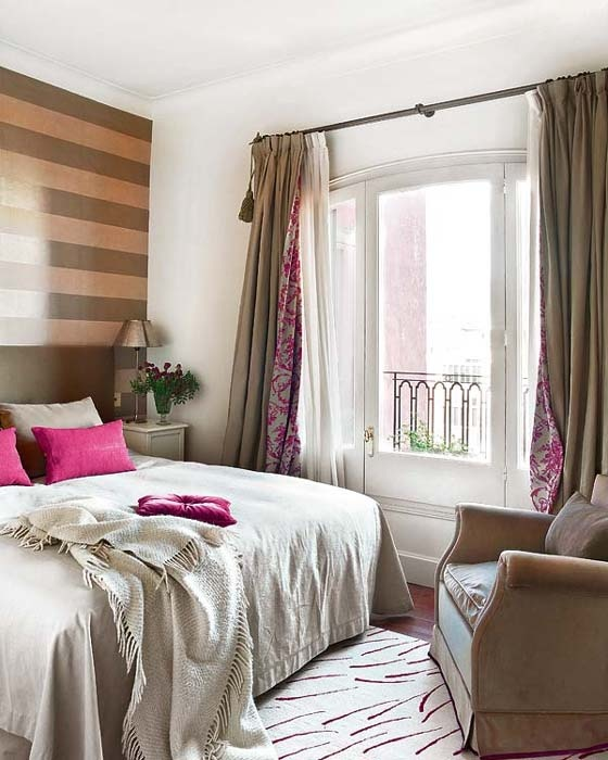 striped accent wall in bedroom dwell pinterest