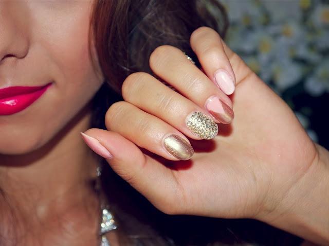 Annie Jaffrey: Rose Gold Nail Art | Nail Art | Pinterest