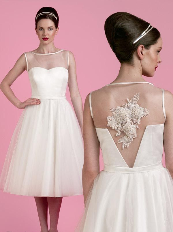 Illusion beaded pearl back spring 2014 wedding dresses by tobi hannah