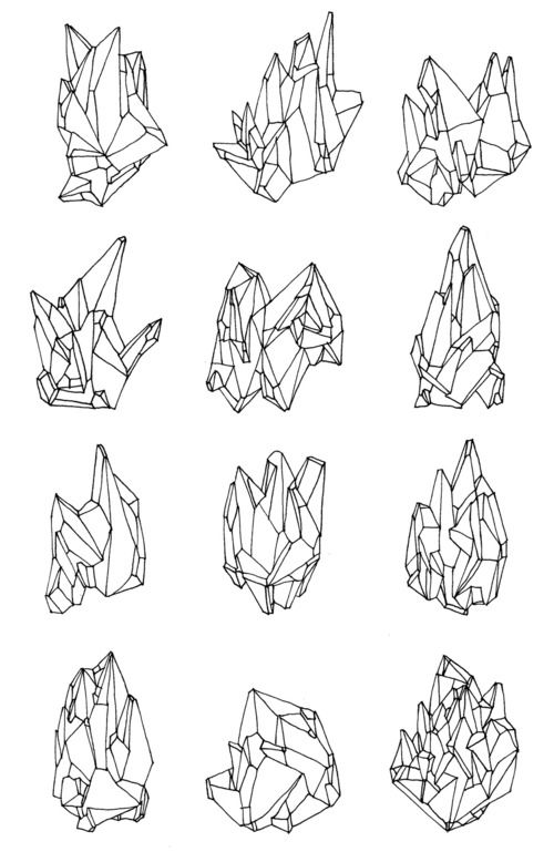 Via Michell McCoolQuartz Crystals Drawing