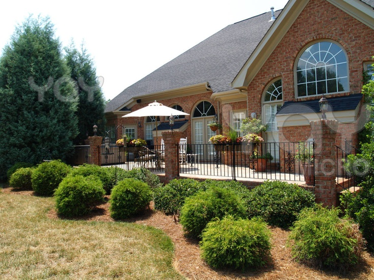Wrought Iron Fence With Brick Porch Outdoor Livin 39 N
