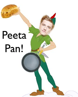 Peeta Pan! love me some Hunger Games.
