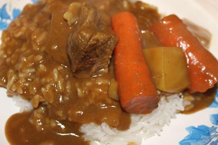 Kare Raisu (Japanese curry) in a crockpot