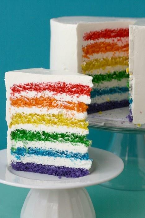 rainbow layer cake | FOOD | Pinterest