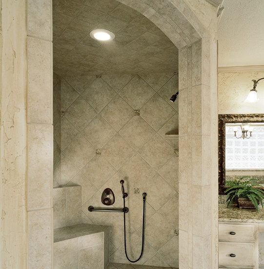 Doorless Shower Design Dream Home Pinterest
