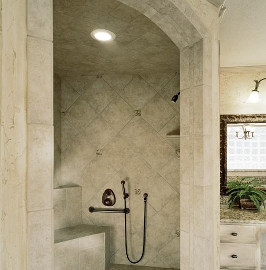 Doorless Shower Design Dream Home Pinterest