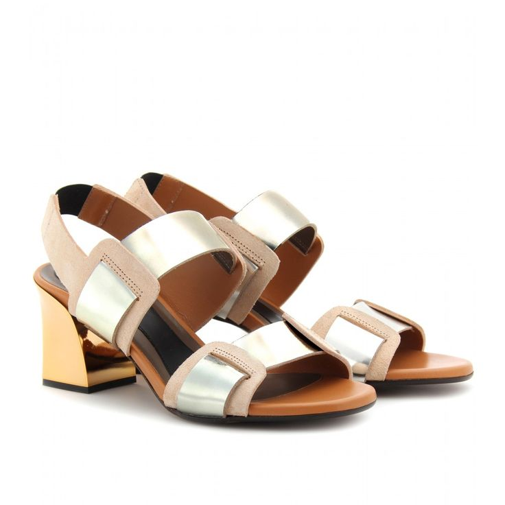 Marni, Really want there LEATHER SANDALS WITH METALLIC BLOCK HEEL seen
