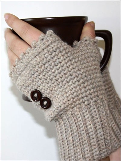 Crocheting Gloves Fingerless : Cro crochet, Ladies Fingerless Mitts Crochet/Knitting Pinterest