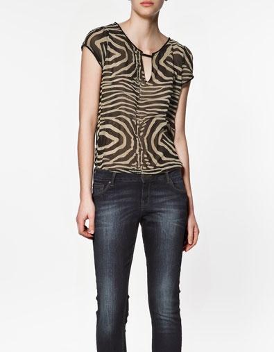 Zara Zebra Blouse 92