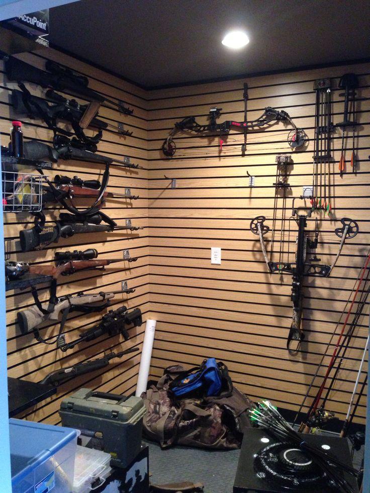 Awesome gun room basement pinterest for Walk in gun room plans