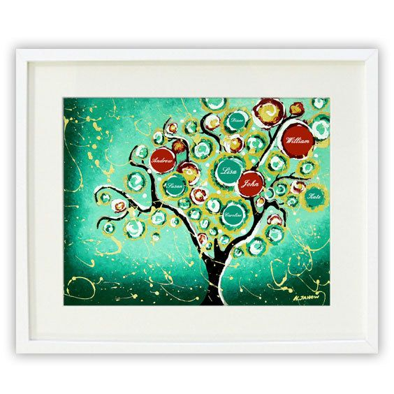 personalized giclee print custom family tree of life. Black Bedroom Furniture Sets. Home Design Ideas