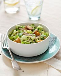 Caesar Salad with Shiitake Mushrooms - I wonder if there's some kind ...