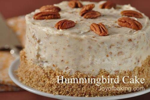 Hummingbird cake, one of Julia's cakes in The Girl Who Chased the Moon.