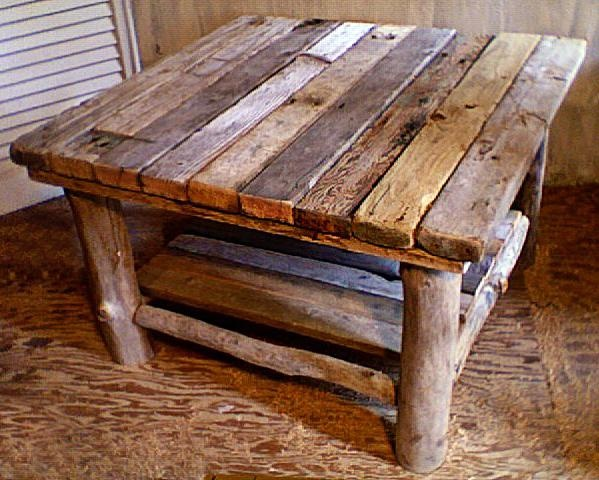 Square Coffee Table With Bottom Shelf Reclaimed Wood Projects Pin