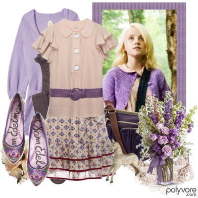 Luna Lovegood in her signature purple   Adorable Outfits ...