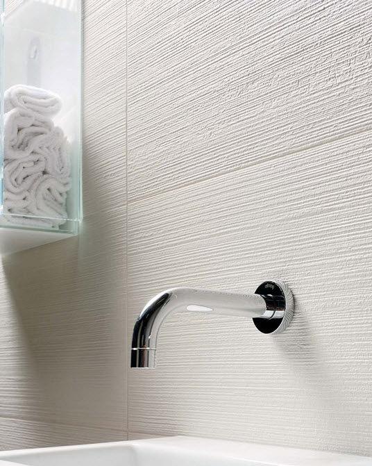 Textured white tile bathroom ideas pinterest for White ceramic tile bathroom