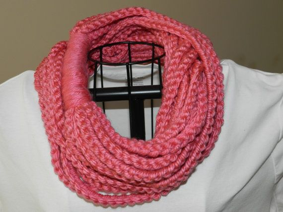 Crochet Stitches Chain : ... Chain Stitch Scarf/ Crochet Necklace/ Crocheted Chain Stitch Scarf