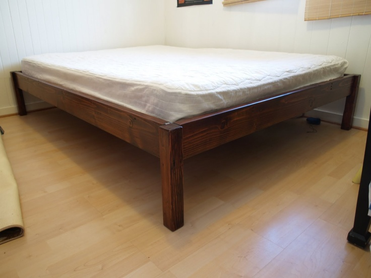 Simple bed frame easy to build space saving bed for Space saving bed frame