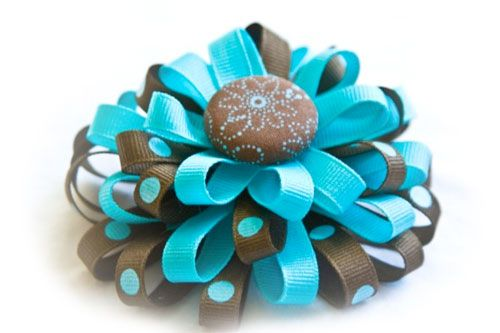 How to Make Flower Loop Hair Bows