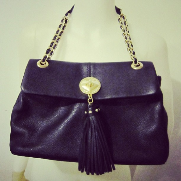 Just listed on ebay lovemoschino black leather gold strap chain bag