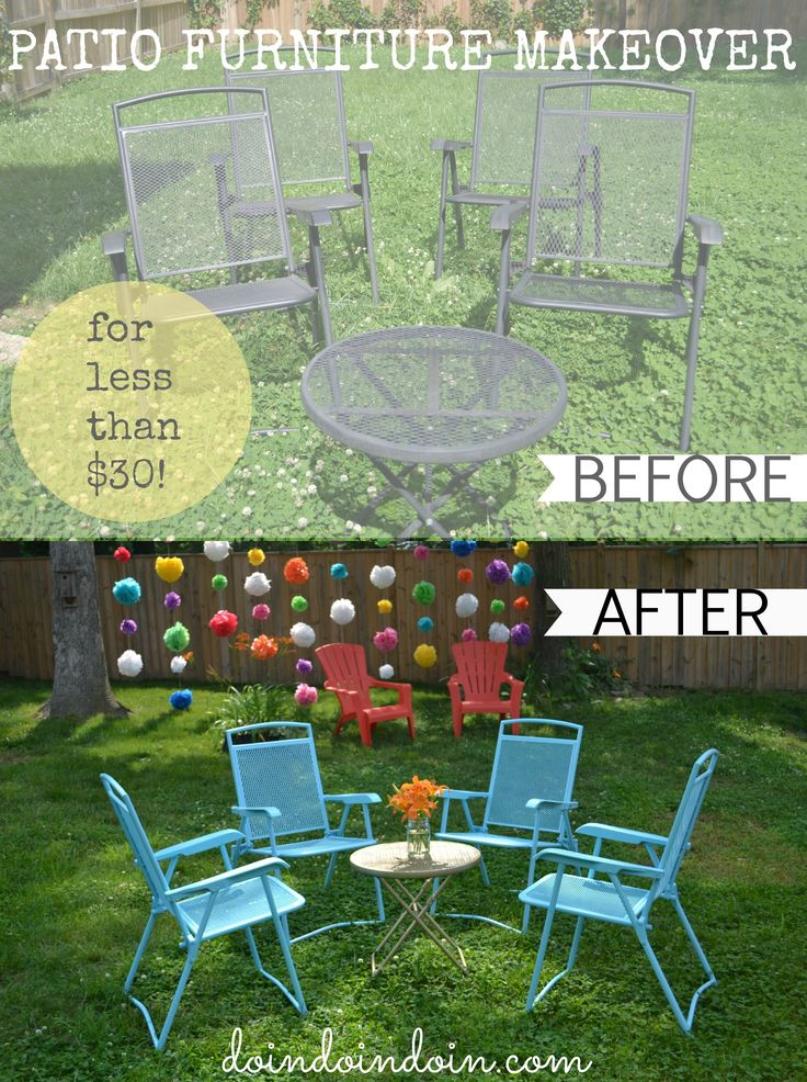 Easy patio furniture makeover on a budget diy projects for Deck makeover on a budget