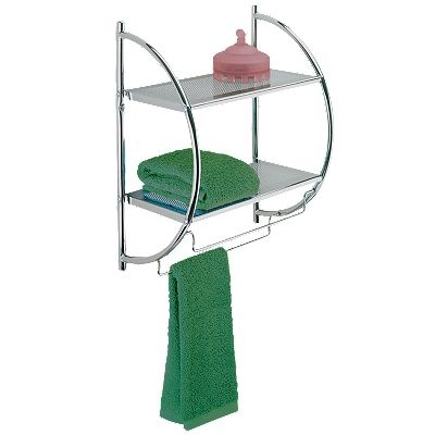 2 shelf chrome towel rack apartment fun pinterest