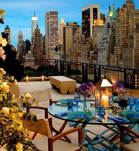 new york balcony with view travel pinterest