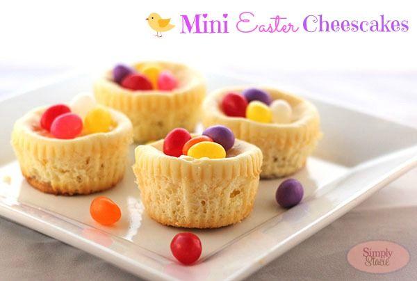 Mini Easter Cheesecake Recipe - I love the jelly beans or mini eggs ...