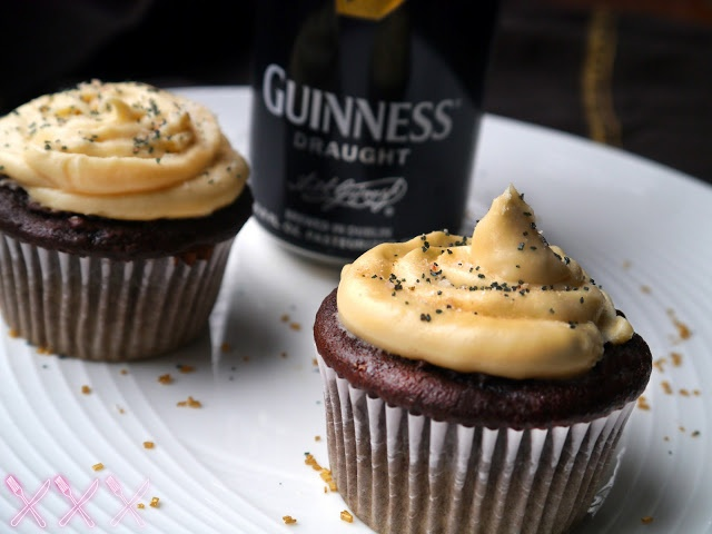 NY FoodGasm: Dark Chocolate Stout Cupcakes with Salted Caramel ...