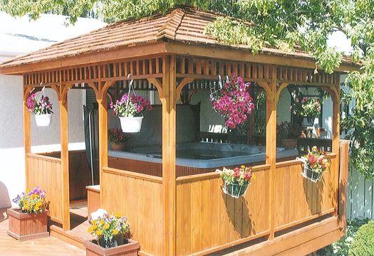 Enclosed porch with hottub designs and plans joy studio for Hot tub gazebo plans