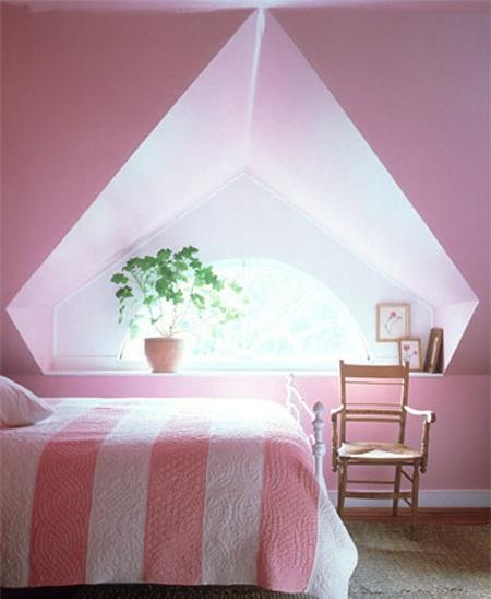 attic bedroom from martha stewart quilt inspiration