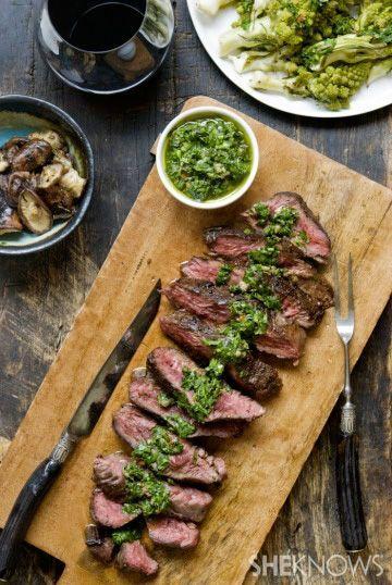 Hanger Steak With Italian Salsa Verde | Beef entries...steak Etc ...