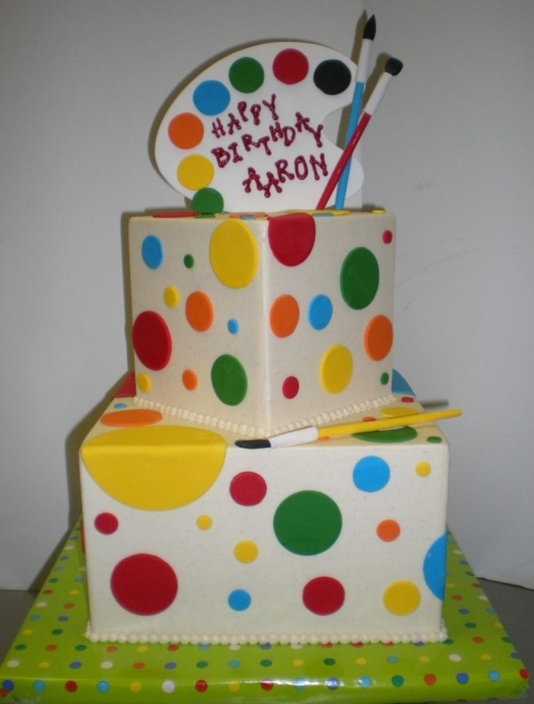 Art Theme Birthday Cake
