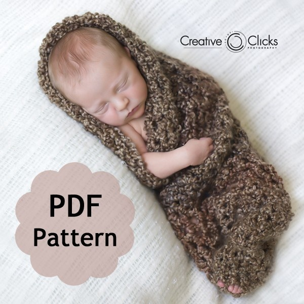 Baby Cocoon for Newborn Photography -- PDF Pattern for Crochet INSTANT ...