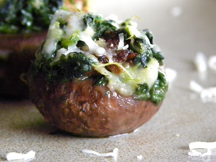 Spinach & Sausage Stuffed Mushrooms | Appetizers | Pinterest