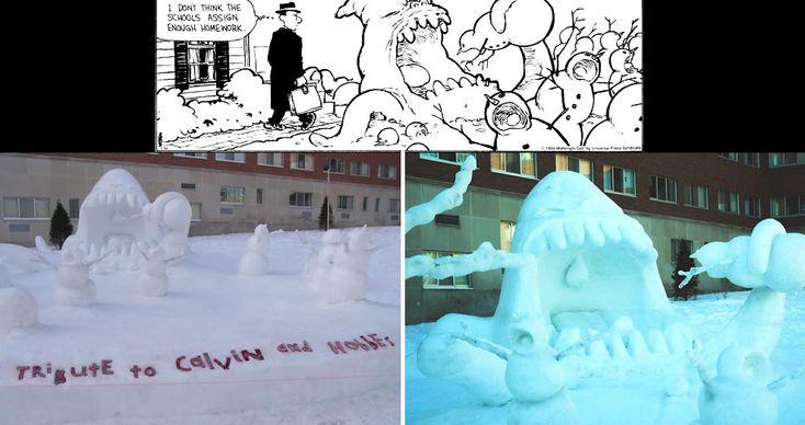 Calvin And Hobbes Snowmen Sharks